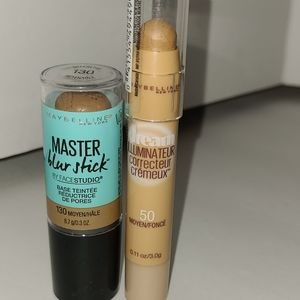 Set of Maybelline Blur Stick & Corrector
